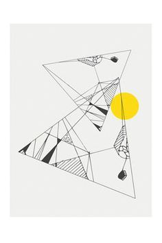 Abstract Triangle Print Geometric Art Abstract Drawings