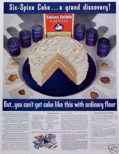 Swans down spice cake recipe