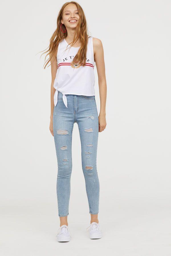 nueva seleccione para auténtico los mejores precios Super Skinny High Jeans | Azul denim claro | MUJER | H&M CO ...