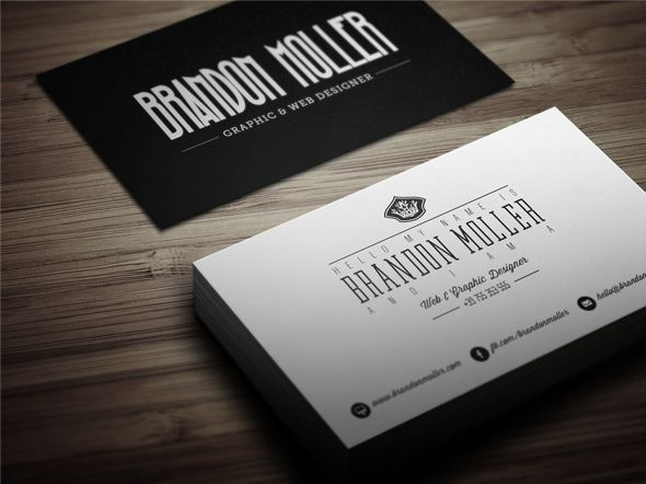 Creative Retro Business Card 3 Retro Business Card Business Card Psd Art Business Cards