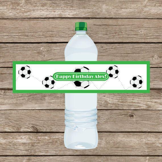 Personalized water bottle labels wraps di sweetgrassprints su Etsy, $15.00