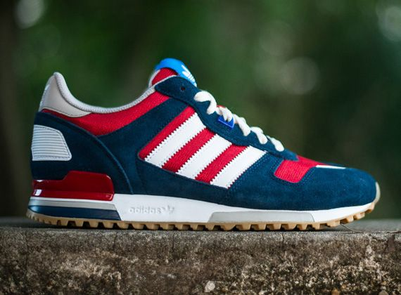adidas zx 700. adidas originals zx 700- navy, red, and white zx 700