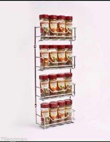 4 TIER CHROME SPICE RACK HOLDER TO SUIT MASTERFOOD SPICE BOTTLES - 16 BOTTLES - $29.99
