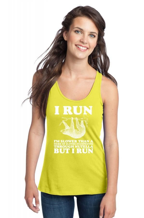i am slower than a herd of sloths 6 Racerback Tank
