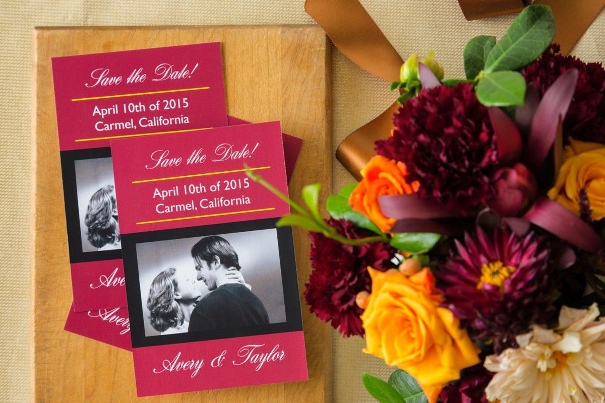 Beautiful save-the-date cards you can make yourself! We used Avery ...