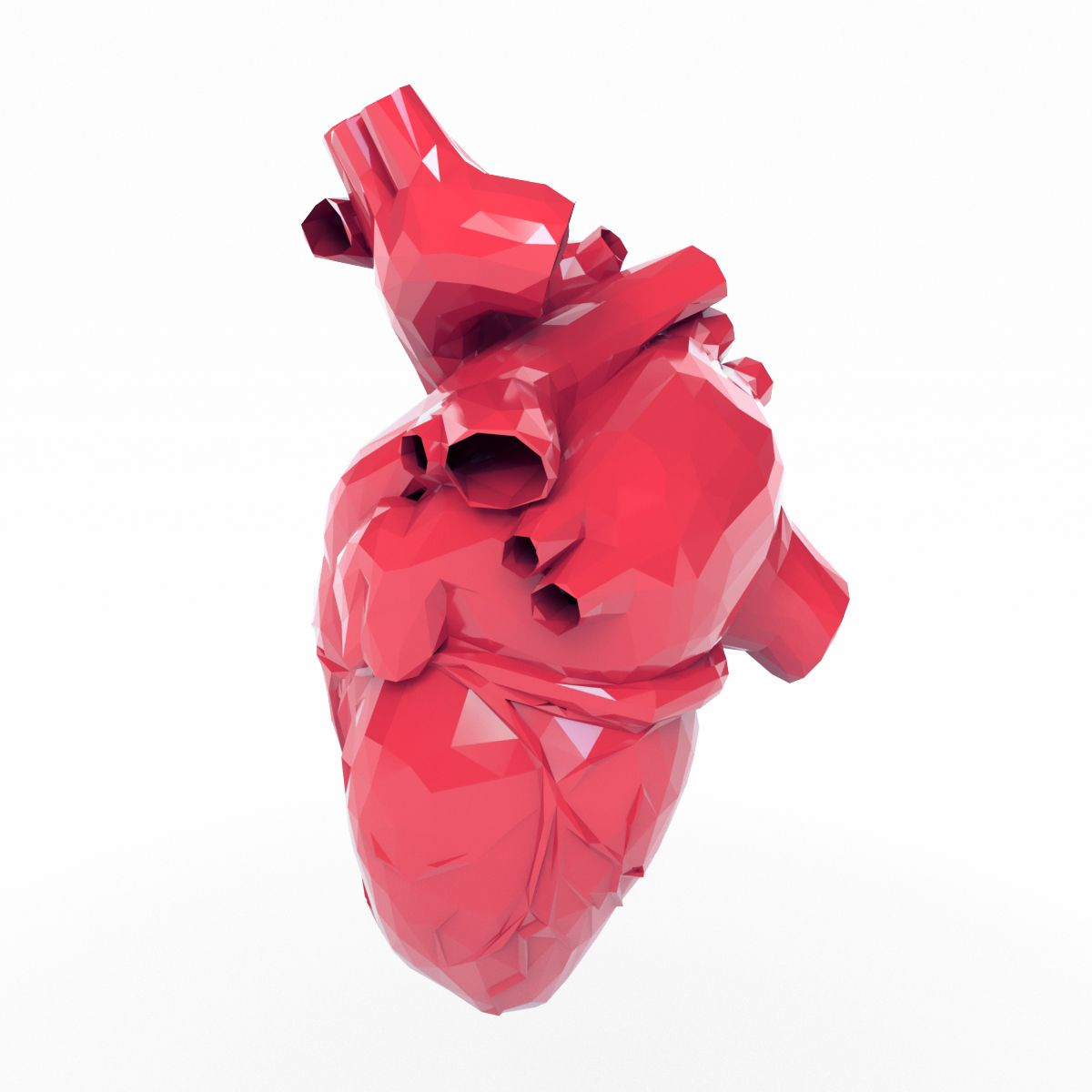 Low Poly Heart #Poly, #Heart | 3d Design Fashion | Low poly