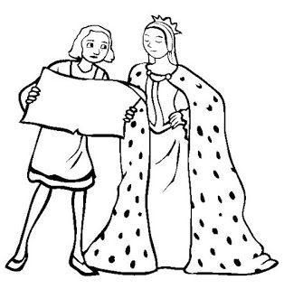 Recursos Para Educación Infantil Dibujos Reyes Católicos Cristobal Colon Cristobal Colón Catolico Dibujos