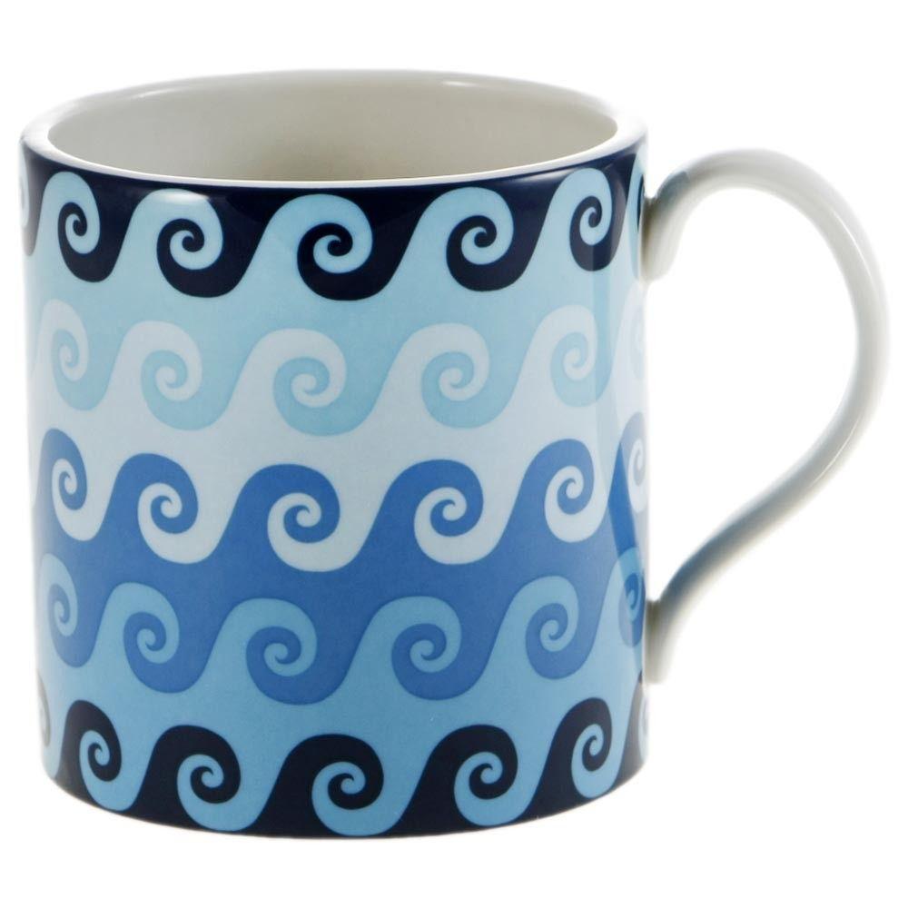 Blue Carnaby Waves Mug from Jonathan Adler