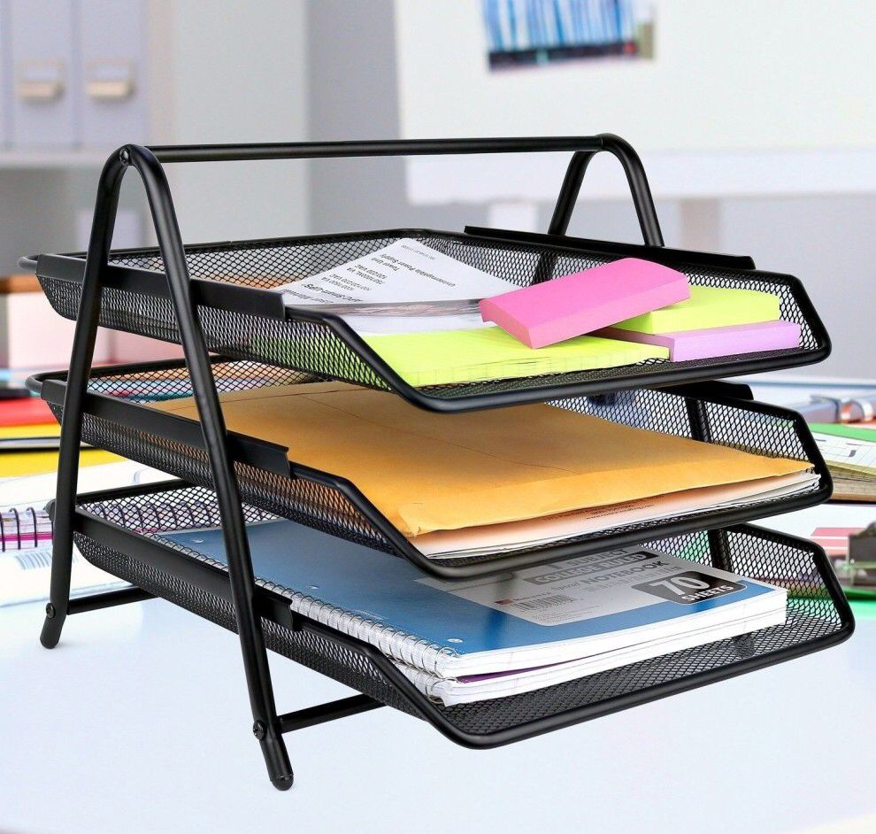 A threetier letter tray so you (at the very least) look