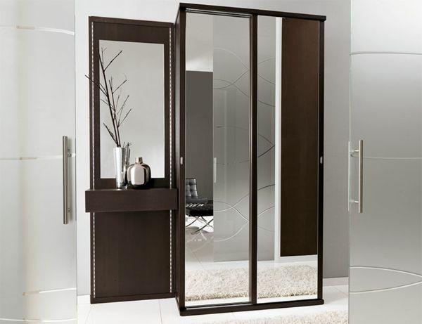 eleganter dunkler Schrank mit Spiegel Diele Pinterest - badezimmerschrank mit spiegel