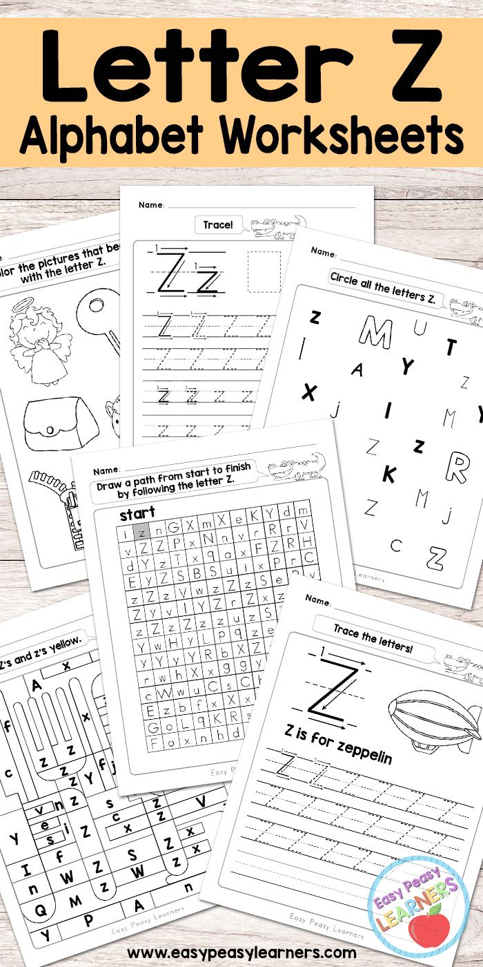 Letter Z Worksheets Alphabet Series Easy Peasy Learners Letter Identification Worksheets Letter T Worksheets Letter B Worksheets [ 1400 x 700 Pixel ]