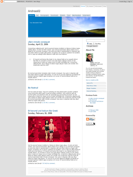 50 Most Beautiful Blogger Templates To Download Hongkiat Visual Free Blogspot Templates System