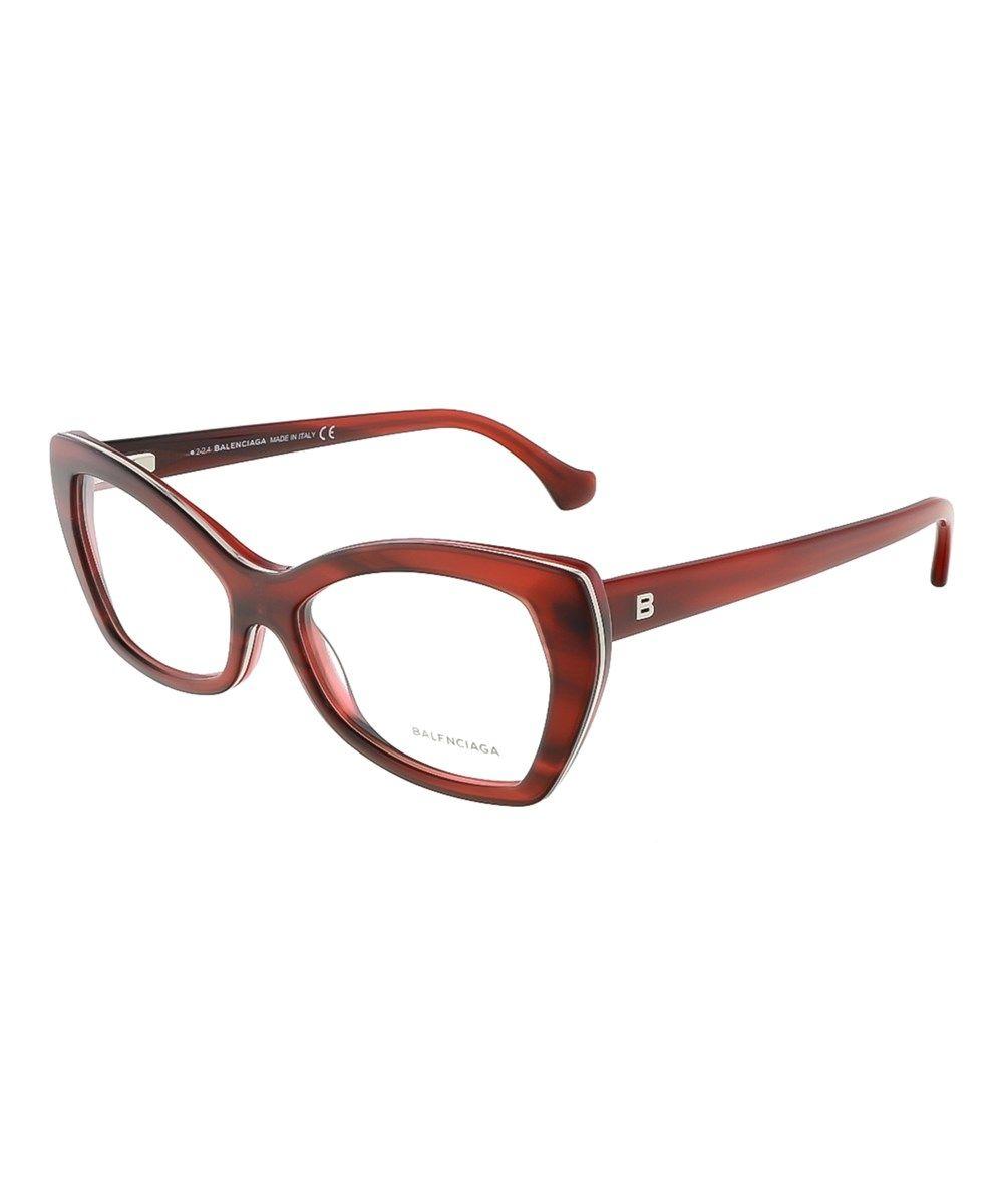 BALENCIAGA Ba5045/V 068 Mahogany Cat Eye Prescription-Eyewear-Frames ...