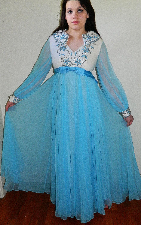 Vintage 1960\'s Dress . 60s Gown . Original . Bernetti . New York ...