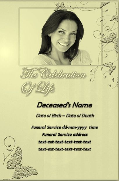 Free Funeral Programs The Best Source Of Free Funeral Program Templates Memorial Service .