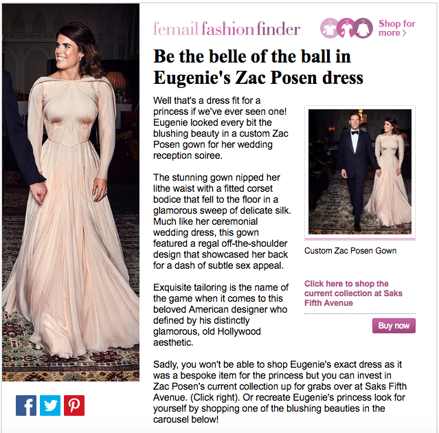 d47b20af6b8 Royal wedding  Eugenie broke with tradition in Zac Posen dress ...
