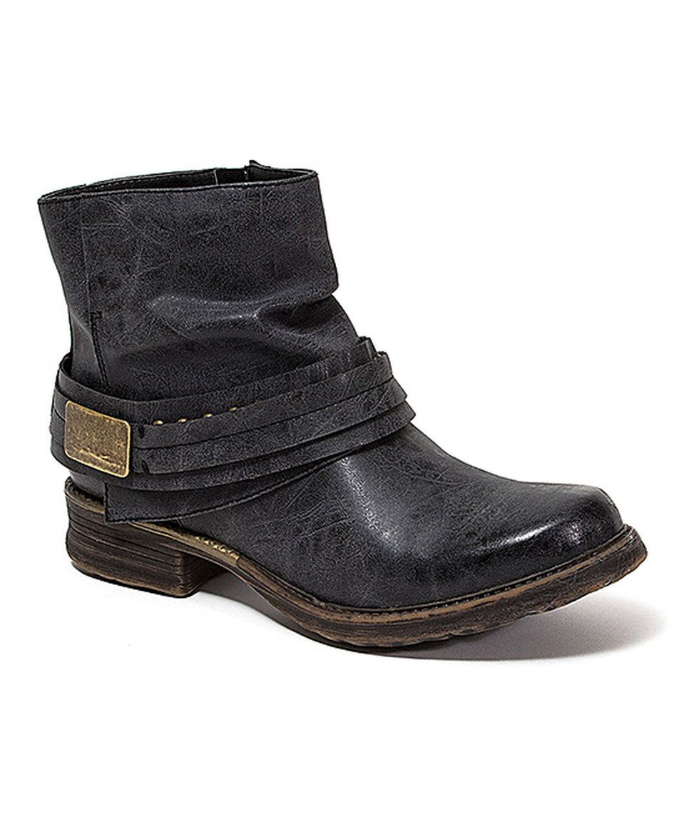 154adb07c45d Look at this  zulilyfind! French Blu Black Jackson Ankle Boot by ...