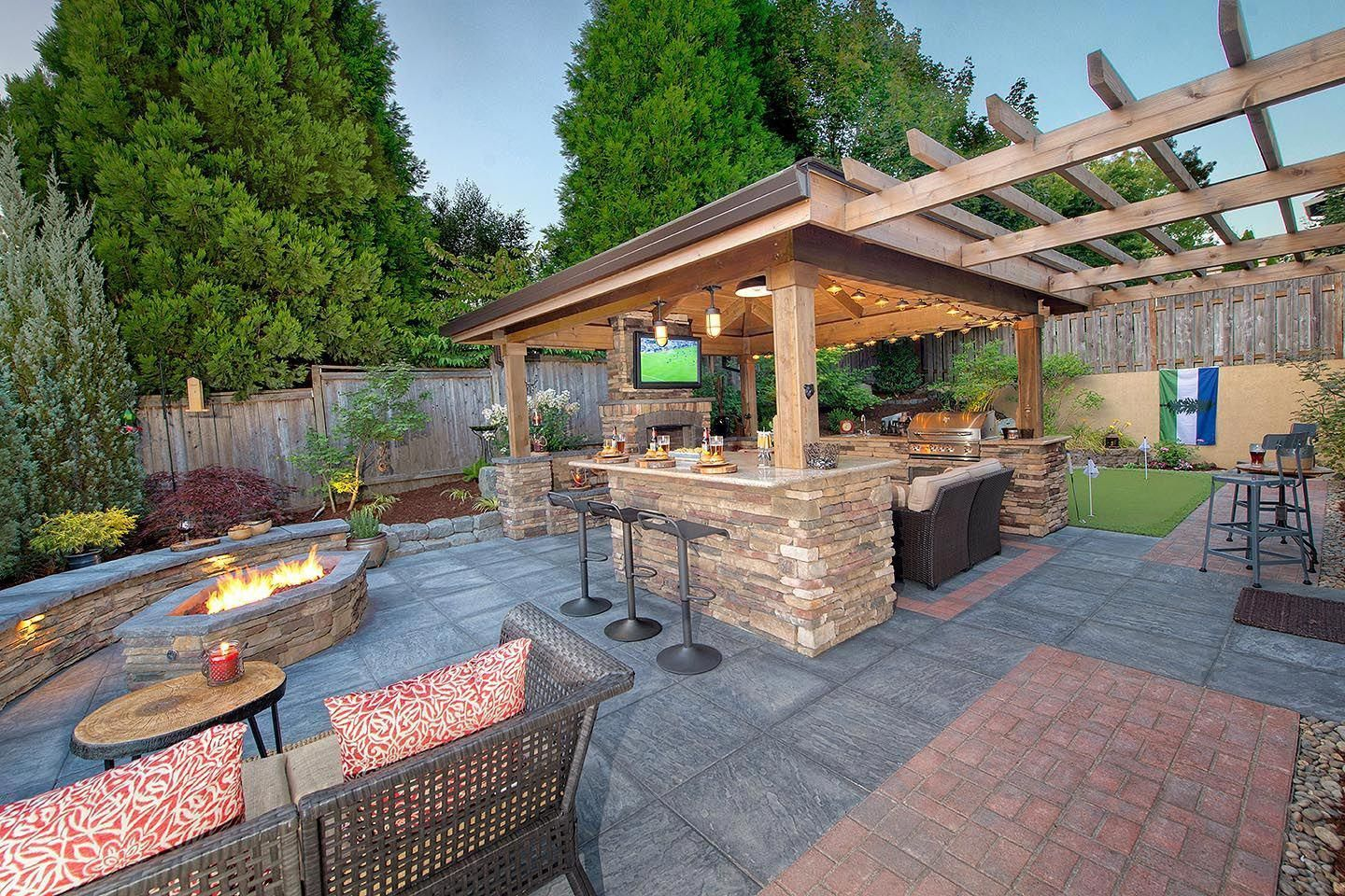 Acquire Our Best Ideas For Outdoor Kitchens Including Lovely Outdoor Kitchen Decor Backyard Decor Backyard Landscaping Designs Outdoor Kitchen Decor Backyard
