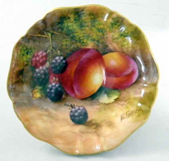 Vintage Royal Worcester Bone China Hand Painted Fruit Pin Dish by E Townsend & Vintage Royal Worcester Bone China Hand Painted Fruit Pin Dish E ...