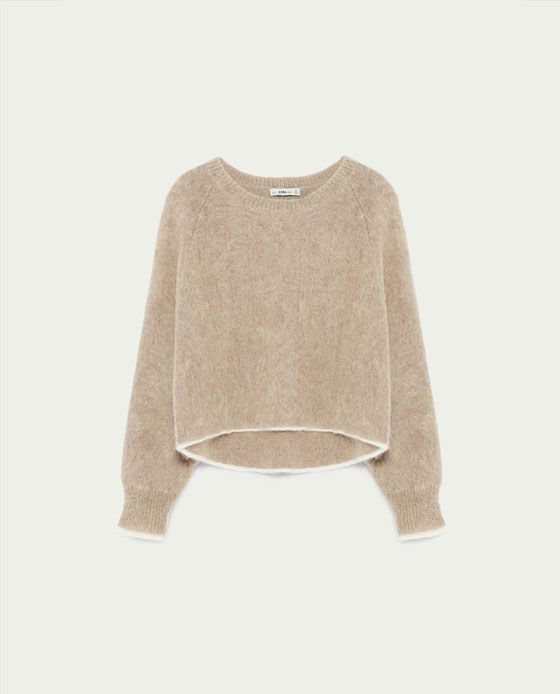 Image 6 of BATWING SLEEVE MOHAIR SWEATER from Zara