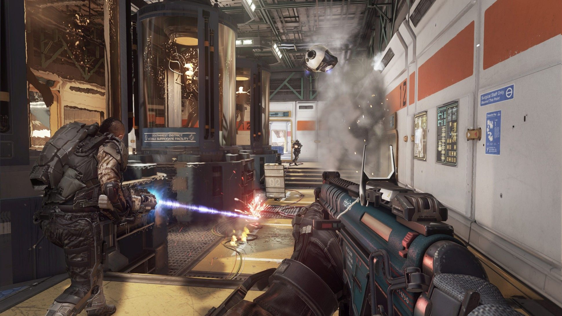 Call Of Duty Advanced Warfare Zombies Gameplay Footage Shows Off Cast High Tech Undead Call Of Duty Advanced Warfare Advanced Warfare Zombies