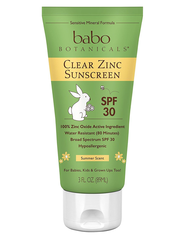 Babo Botanicals Spf 30 Clear Zinc Lotion 3 Ounces Best Natural Mineral Sunscreen Non Nano Sensitive Aweso Babo Botanicals Zinc Sunscreen Safe Sunscreen