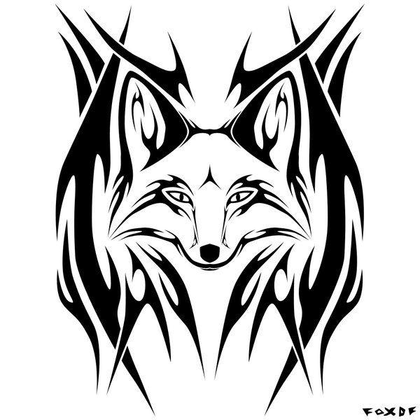 Tribal Fox Tattoo Motif Celtique Tatouage Geometrique Renard