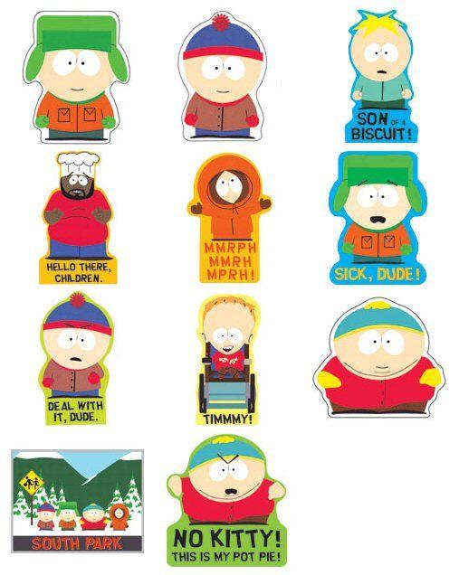 South Park Butters Cartoon Car Bumper Sticker Decal 4 X 5