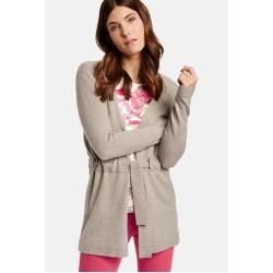 Photo of Gerry Weber Strickjacke mit Bindegürtel Light Taupe-Melange Damen Gerry Weber