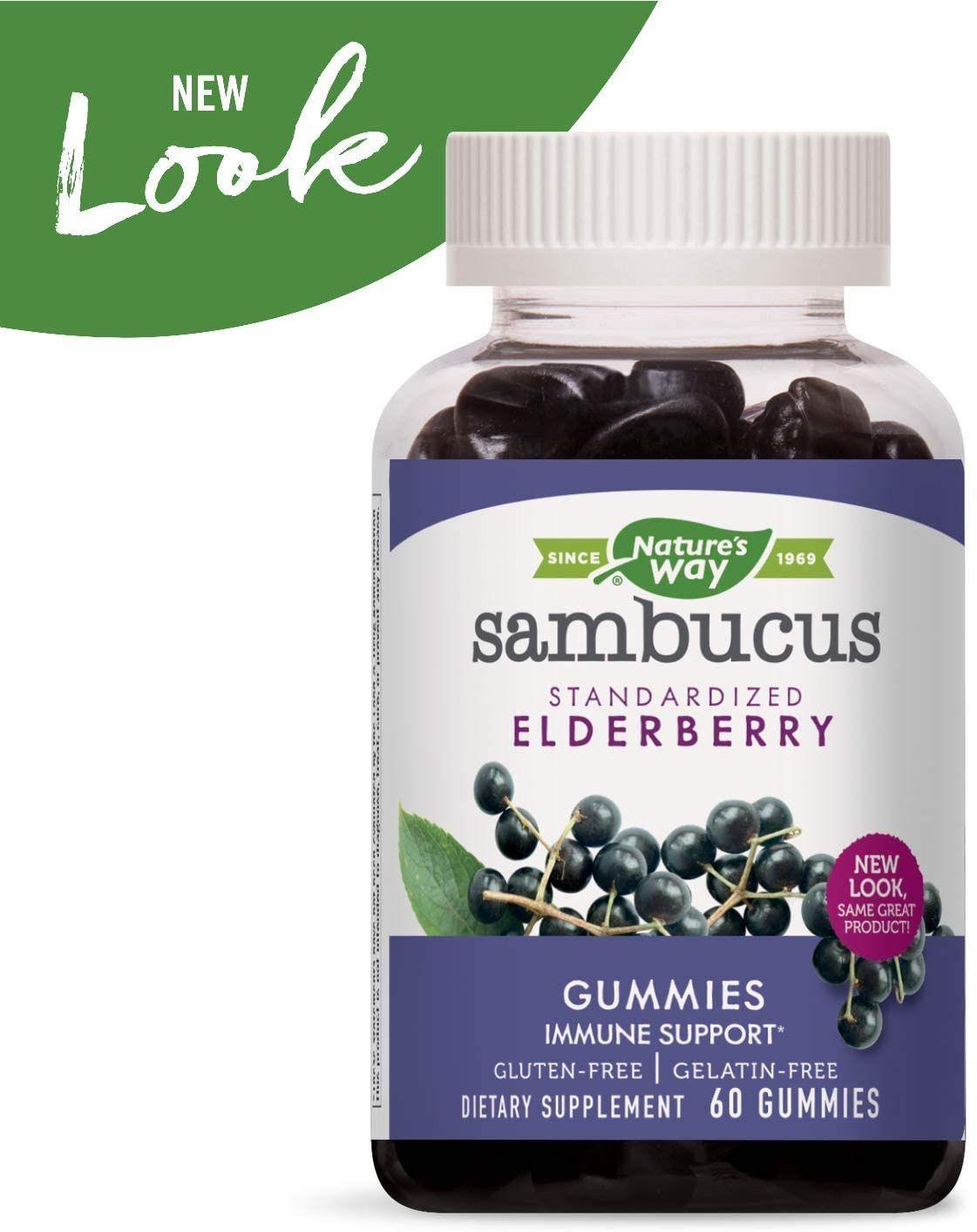 Nature's Way Sambucus Elderberry Gummies, herbal