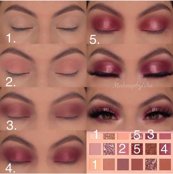 Huda Beauty Lidschatten-Palette Schritt für Schritt Anleitung, ein einfach zu machendes Augen - http://toptrendspint-merge.whitejumpsuit.tk #beautyeyes