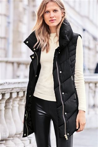 8cb6d5f83f4c Buy Black Padded Gilet from the Next UK online shop | Coats ...