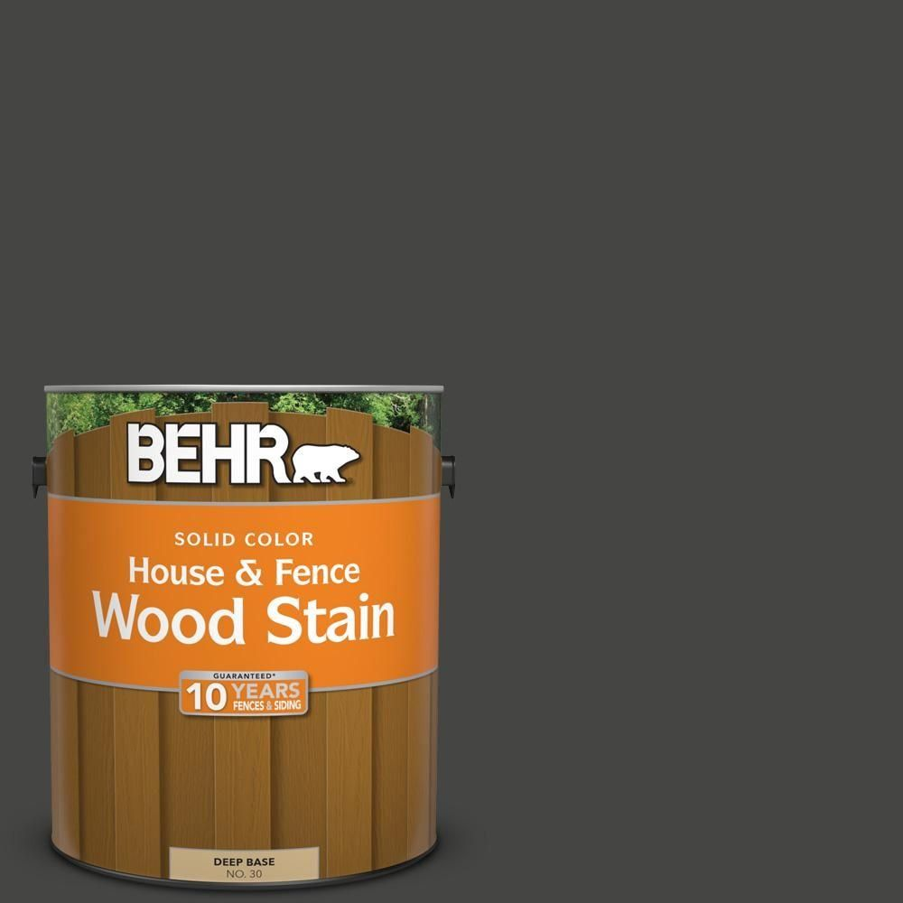 Behr 1 Gal Sc 102 Slate Solid Color House And Fence Exterior Wood Stain 03001 The Home Depot In 2020 Exterior Wood Stain Staining Wood Exterior Wood Stain Colors