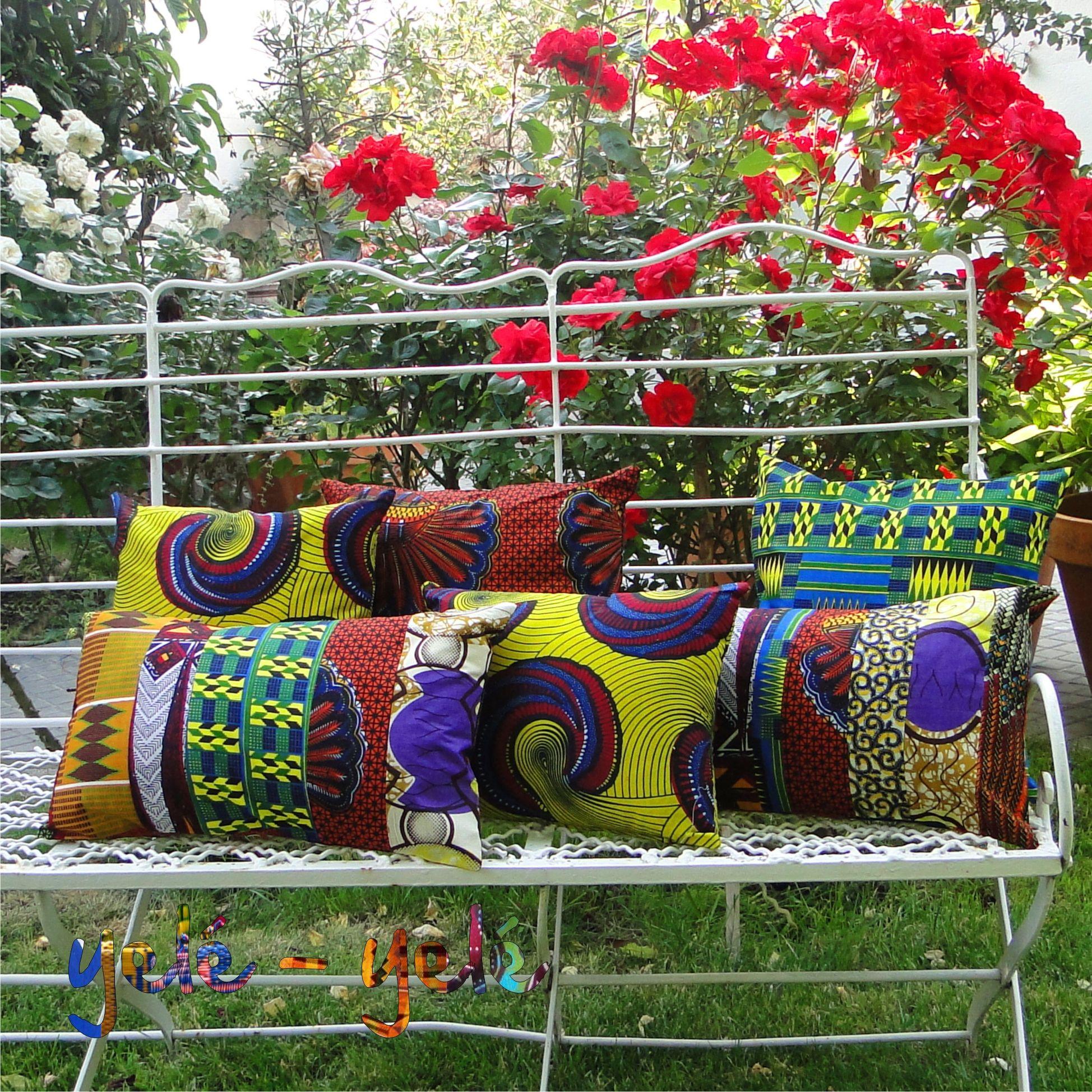 Cojines 100 algod n dise o de tejidos africanos - Cojines de diseno ...