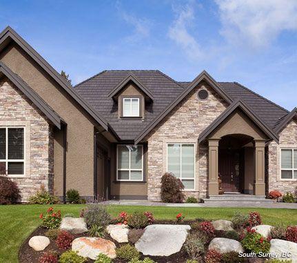 Home Exterior Bucks County Country Ledgestone Cultured Stone Brand Manufactured Stone Veneer