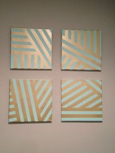 DIY Painted Canvas Easy Art Project With Painters Tape