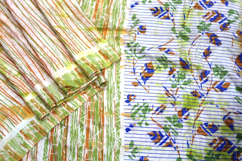 Ethnic Craft Dressmaking LD-13 Vintage Woman/'s Sari Kimono Vintage Recycled Sari Fabric EXPRESS SHIPPING-Indian Silk Saree Clothing