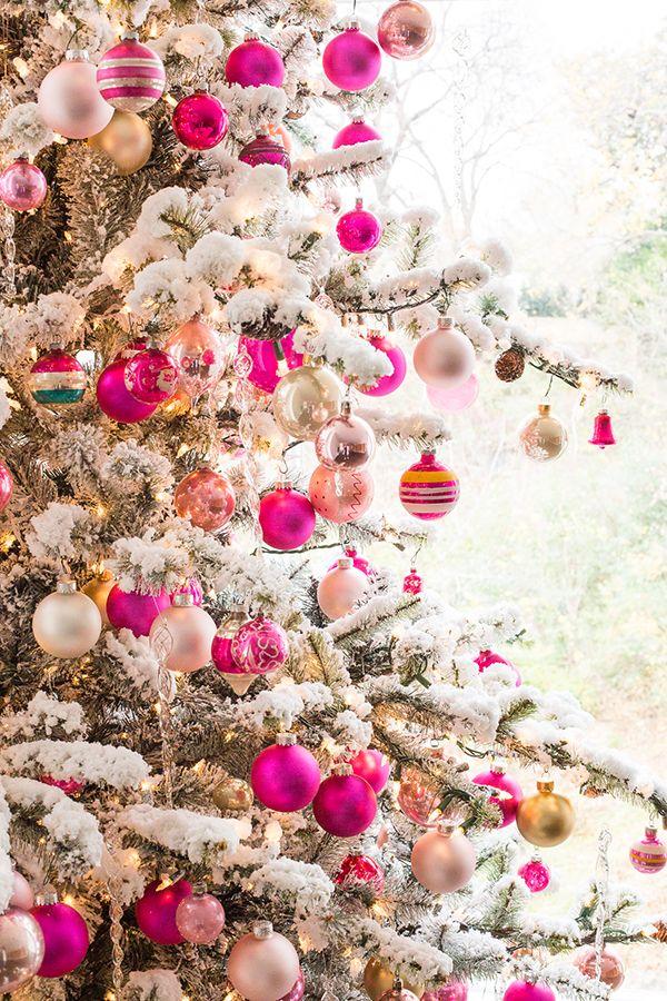 Our Pink Christmas Tree Pink Christmas Decorations Traditional Christmas Tree Pink Christmas Tree