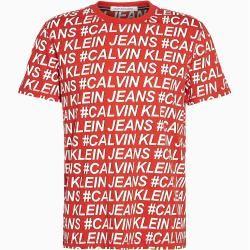 Photo of Calvin Klein T-Shirt aus Bio-Baumwolle mit Allover Logo S Calvin Klein