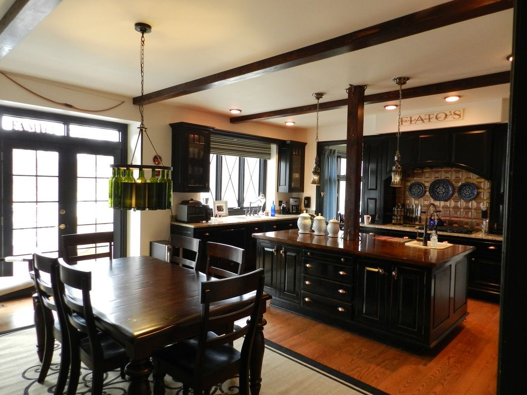 Info's : Black kitchen cabinets!