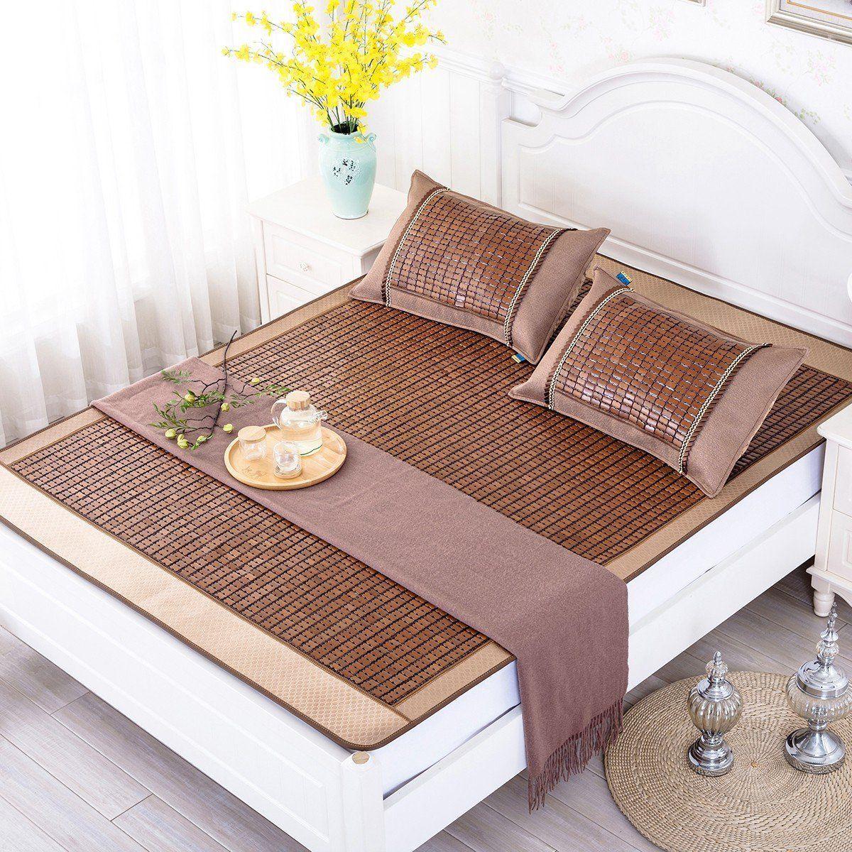Qbedding Carbonized Bamboo Summer Sleeping Mat Cooling