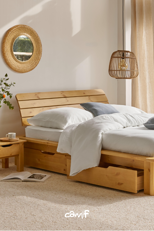 camif lit en bois lit en bois avec tiroir lit bois lit