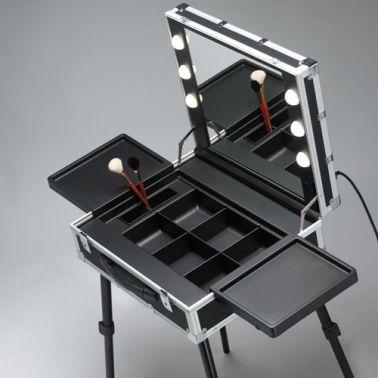 table de maquillage professionnel cantoni miroir valise. Black Bedroom Furniture Sets. Home Design Ideas