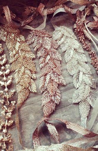 Beaded Leaf & Vine Rhinestone Headpiece - EVE