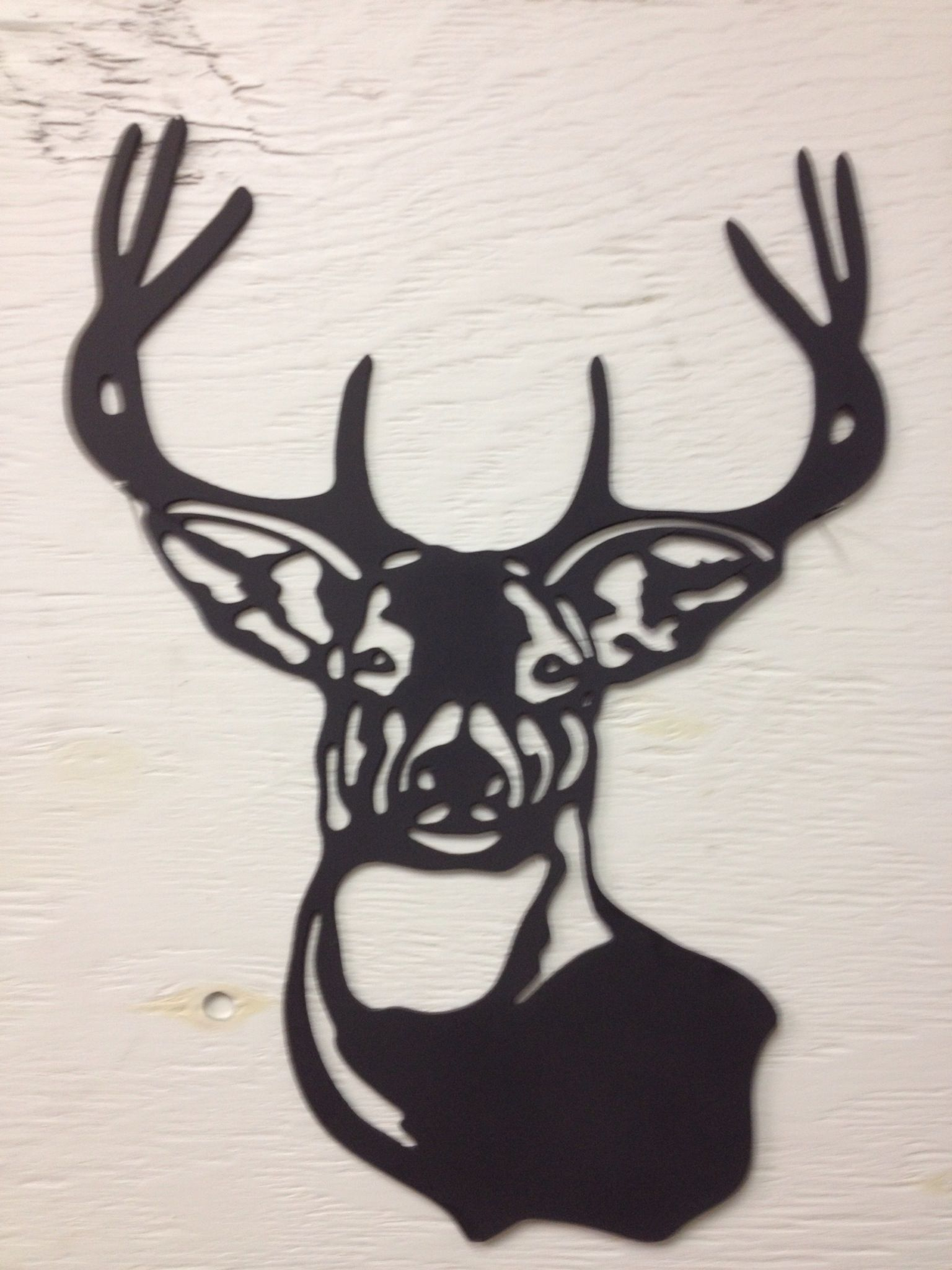 Metal Deer Buck Silhouette 15 X 11 Etsy In 2020 Buck Silhouette Deer Metal Artwork
