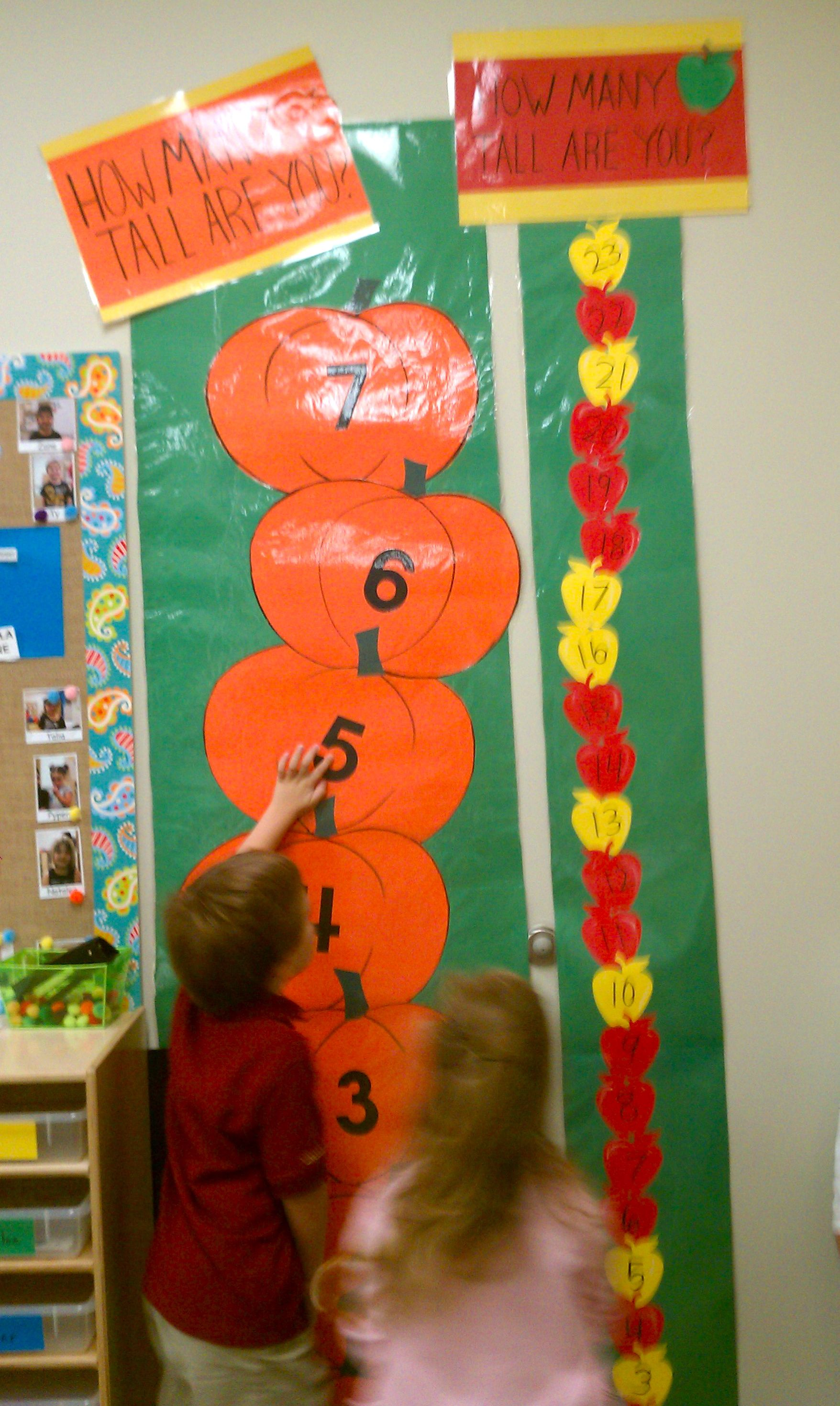 Pumpkin And Apple Measuring The Kids Love It