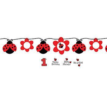 Decorations plus red & black balloon