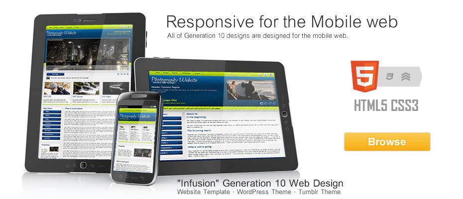 Responsive Website Templates Responsive website template