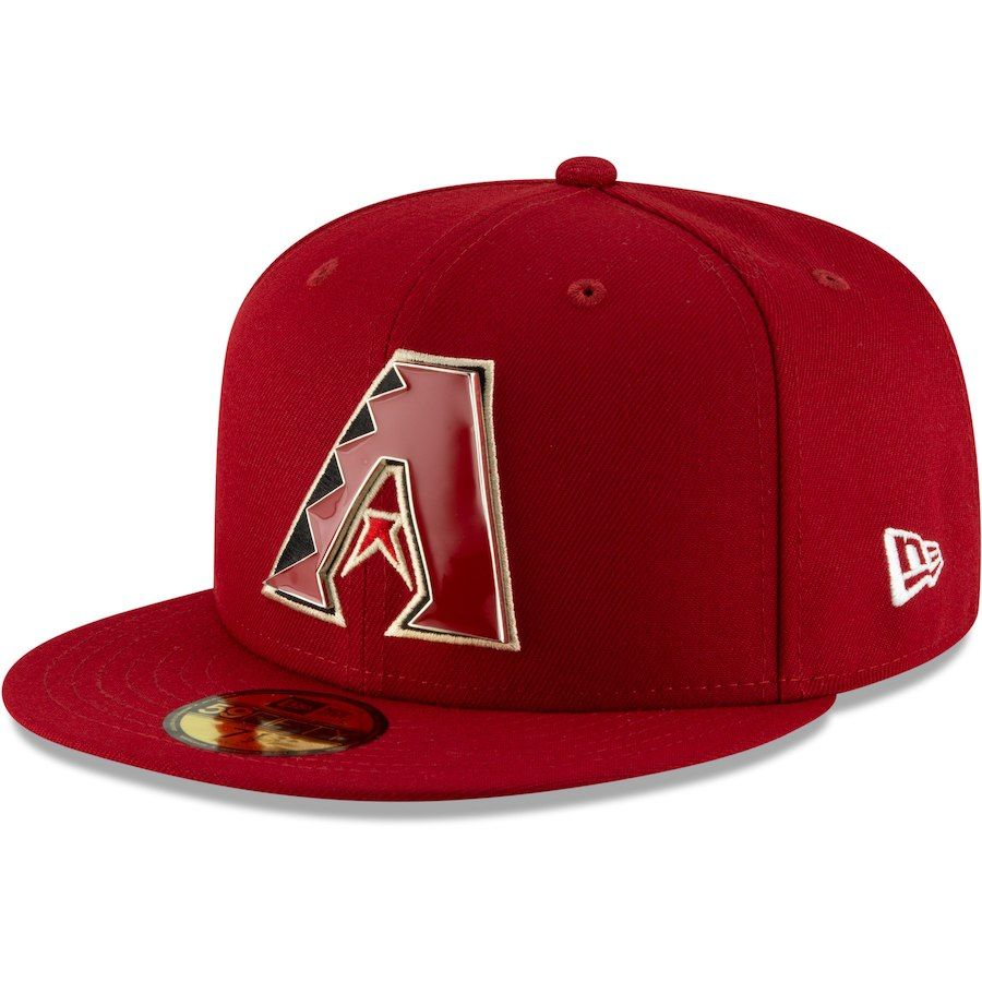 87c27e17ffc Men s Arizona Diamondbacks New Era Red Metal   Thread 59FIFTY Fitted ...
