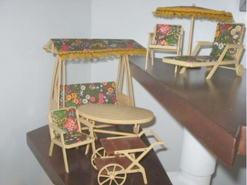 Barbie Sized Doll Patio Furniture Made In Germany By The German Company Trifels Spielwaren